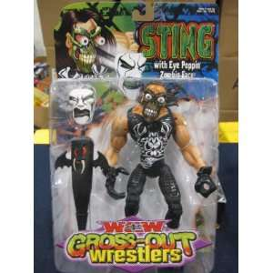 RARE TOY BIZ WCW GROSS OUT WRESTLERS STING FIGURE, TNA
