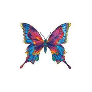 Glitter Tatoos on Rainbow Butterfly Glitter Temporary Tattoo 2x2  Beauty