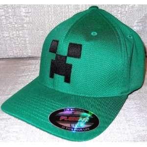 MINECRAFT Creeper Licensed Green Baseball Cap HAT Adult
