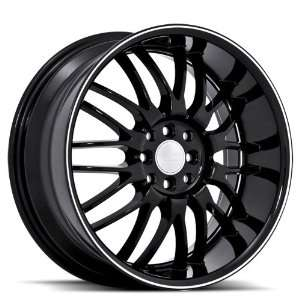 Ruff Racing R951 18x8 Honda Toyota Scion Acura Wheels Rims Black W