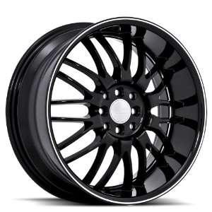 Ruff Racing R951 18x8 Honda Toyota Scion Acura Wheels Rims Black W
