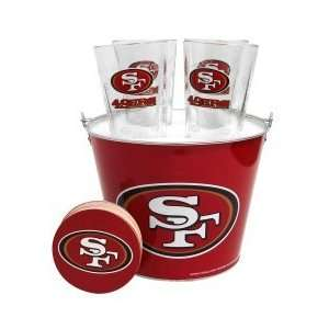 San Francisco 49ers Pint Glasses and Beer Bucket Set  San Francisco