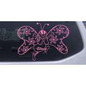 Flowers Butterflies Car Window Wall Laptop Decal Sticker Automotive