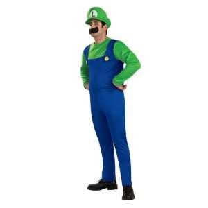 Super Mario Brothers Deluxe Luigi Costume   Large (Extra
