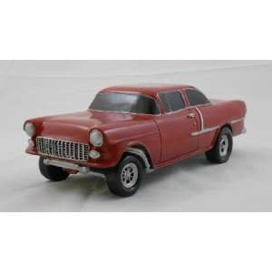 1955 CHEVY GASSER, RED, COLLECTIBLE 118 SCALE MODEL, HOT ROD, STREET