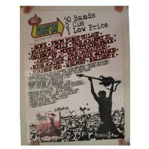 NOFX Flogging Molly Anti Flag Poster Warped Tour