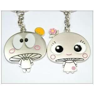 Cute Mushroom Lovers Couple Key Rings Keychain Pendant