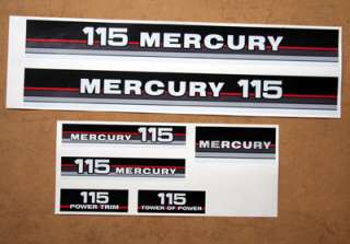 Mercury 115 red/blue band outboard graphics/sticker kit