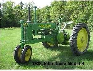 1938 John Deere Tractor Model B Refrigerator Magnet