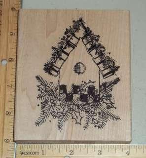 HUGE CHRISTMAS BIRDHOUSE rubber stamp IMAGINATIONS