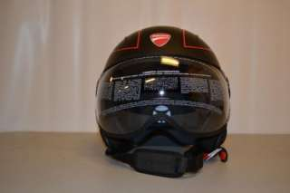 DUCATI JET SET HELMET MOMO DESIGNS MATTE BLACK HELMET 3/4 SMALL