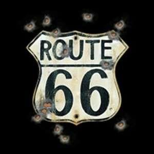 Route 66 Biker Short Long Sleeve Tshirt or SweatShirt or Hooded