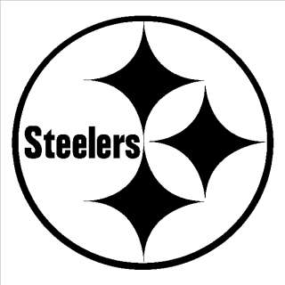 Yellow Pittsburgh Steelers Logo Decal Window Sticker