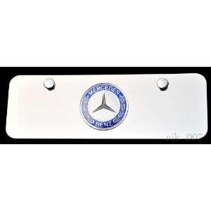 Mercedes Benz 3D logo on Steel license plate, NEW