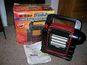 PORTABLE BUDDY HEATER MODEL MH9B 4,000   9,000 BTU   PROPANE
