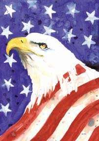 AMERICAN STARS & STRIPES Bald Eagle, 0054 Large Flag
