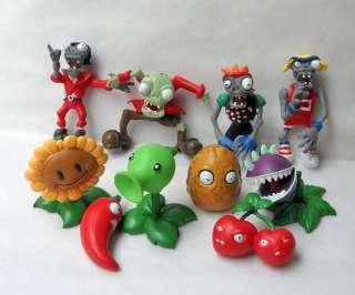 10 pcs Plants vs Zombies PVZ Collection Figures