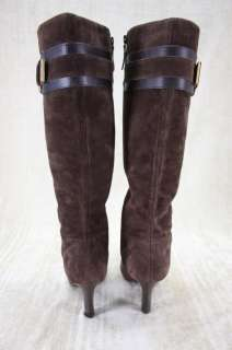 Cole Haan Nicole Air Tall Brown Suede Boots Buckle sz 9