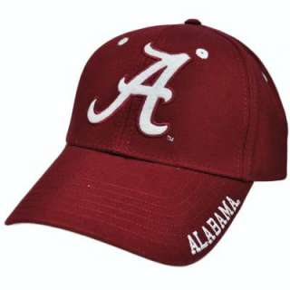 NCAA Alabama Crimson Tide Maroon Red White Constructed Cotton Velcro