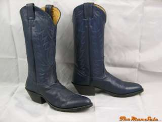 New Nocona Navy Deer Tanned Leather Cowboy Boots Western Wear Multiple