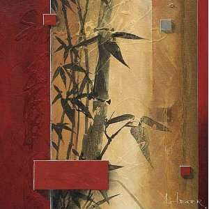 Don Li Leger 36W by 36H  Bamboo Garden CANVAS Edge #5