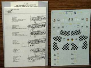 Thunderbolts HO U UN W HL O ~ 1/72 Superscale Decals ~Uncut 72 122
