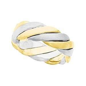 Size 07.50 14K Yellow/White Gold Two Tone Bridal Hand