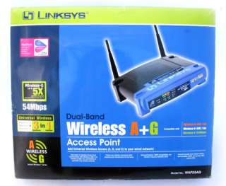 WAP55AG Dual Band Wireless A+G Access Point NETWORKING w/ BOX, CD