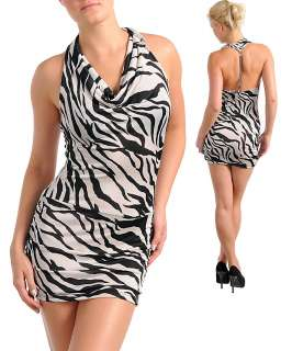 WOMANS PLUS SIZE TAN AND BLACK ZEBRA PRINT DRESS OR LONG TOP CHAIN ACC
