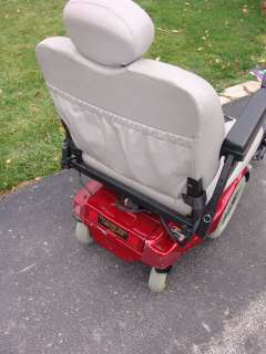 Pride Mobility Jazzy 1170 XL Heavy Duty Electric Wheelchair Red 400lb