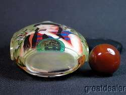 Big Girl Inside Hand Painted Glass Snuff Bottle&Box