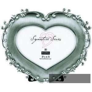 of Boston 152935 Alessandra 3.5x5 Pewter Heart Shaped Picture Frame
