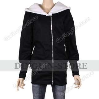 Fashion Long Sleeve Hoodie Jacket Coat Warm Sweater Outerwear Hooded M