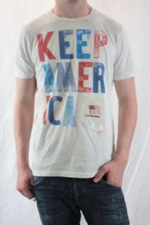 NWT Howe Keep America Red/White/Blue Cotton Crew Tee XL