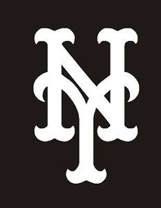 New York Mets Logo MLB WHITE Sticker Decal 2.5 #46b