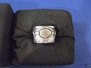 HARLEY 2003 100TH 100 YEAR ANNIVERSARY STERLING SILVER 10K GOLD RING