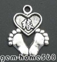 ON SALE 25 Tibetan Silver Love Feet Charm Pendant B145