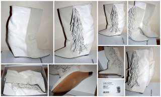 SOLD OUT FALL 2011 ISABEL MARANT MONY White Fringed Boots Size 41