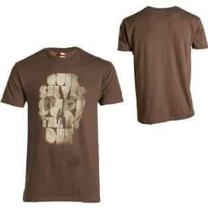 Quiksilver Try Harder T Shirt   Short Sleeve   Mens Brown Heather, XL