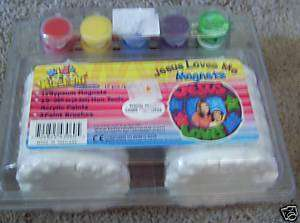 12 Kids Kreations jesus Loves Me Magnets Paint Yourself
