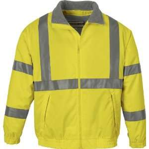 ASH CITY MENS INSULATED YELLOW SAFETY JACKET SMALL