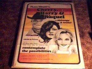 CHERRY HARRY & RAQUEL ORIG MOVIE POSTER 1969 RUSS MEYER