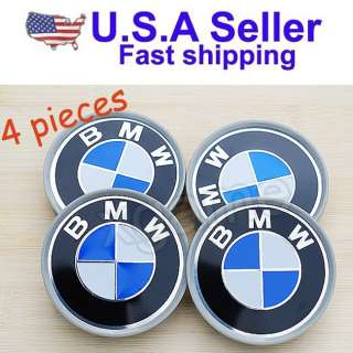BMW wheel center caps 68mm 318i 328i 525i 530i X5 M3 M5 (3 IN ONE B