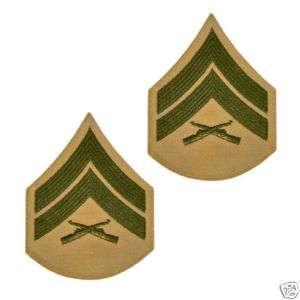USMC Marine Corps Female Enlisted Rank E4 Corp Chevron