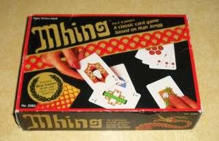 MHING CLASSIC BOARD CARD GAME MAHJONG MAH JONGG c1983 SUNTEX PINYIN MA