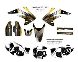 Honda CRF 150R 2007 09 MX Graphics Decals Kit #7777Y