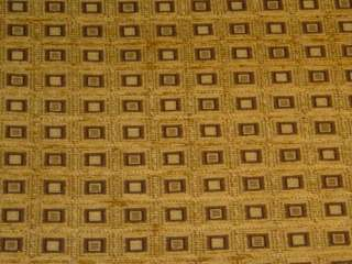 Checkered Flag Gold Brown Black Upholstery Fabric bty