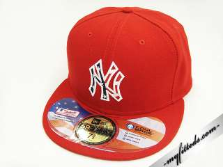 New York Yankees Red American Flag Logo New Era Hat