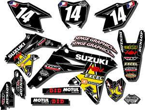 2010 2011 RMZ 250 GRAPHICS KIT SUZUKI RMZ250 DECALS