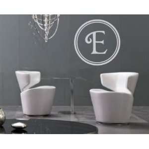 Letter E Monogram Letters Vinyl Wall Decal Sticker Mural Quotes Words